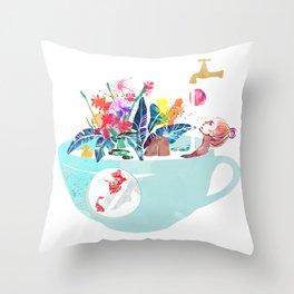 Tropical milk dream Throw Pillow