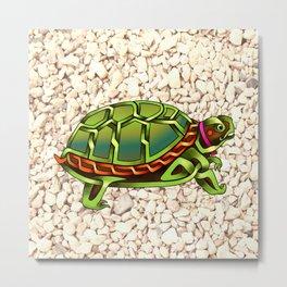 Turtle Knot Metal Print