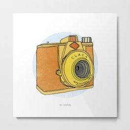 So Analog - Agfa Clack Retro Vintage Camera Metal Print