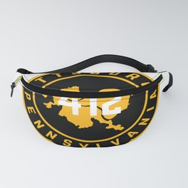 Pittsburgh Pennsylvania Steel City Map 412 Home Pride Fanny Pack