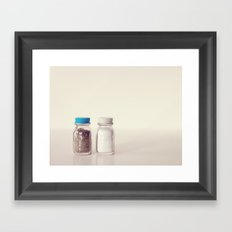 Salt and Pepper Framed Art Print