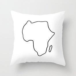 Africa African continent map Throw Pillow