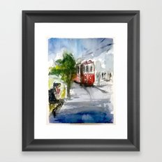 Old Tram in Istanbul Framed Art Print