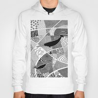 narwhal Hoodies featuring Narwhal by K J Guindon