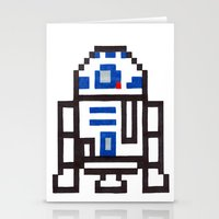 r2d2 Stationery Cards featuring r2d2 by Walter Melon