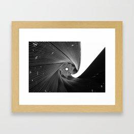 The Black Spiral Framed Art Print