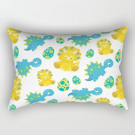 Pattern Of Dinosaurs, Baby Dinos, Cartoon Dinosaurs Rectangular Pillow