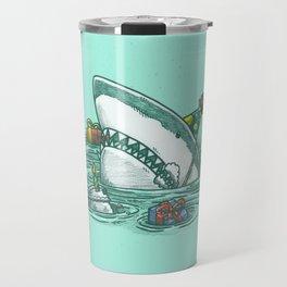 Happy Birthday Shark Travel Mug