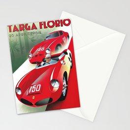 Vintage Italian Roadster Racing Targa Florio Sports Car Poster Stationery Cards