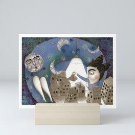 Go to Sleep, Says the Night Mini Art Print