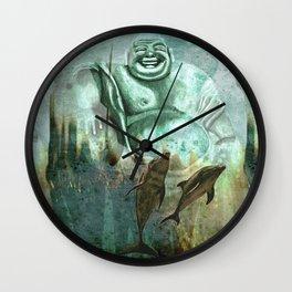 Buddha´s playground Wall Clock