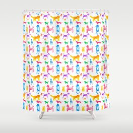 Happy Dogs Shower Curtain