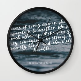 Serena Williams On Women Supporting Each Other 5 Wall Clock