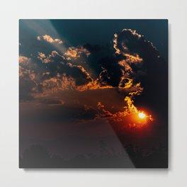 Smoke Equals Unbelievable Sunset Metal Print