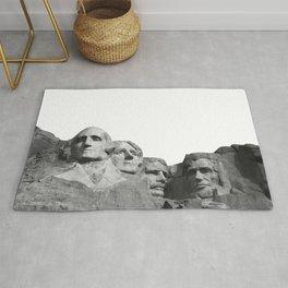 Mount Rushmore National Memorial South Dakota Presidents Faces Graphic Design Illustration Rug