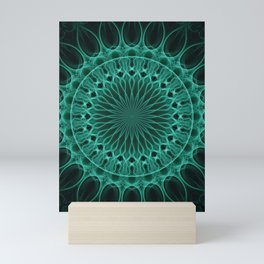 Pretty malachite mandala Mini Art Print