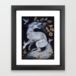 Fox & Poppies Framed Art Print