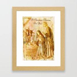 A Christmas Blessing ~ Nativity Framed Art Print