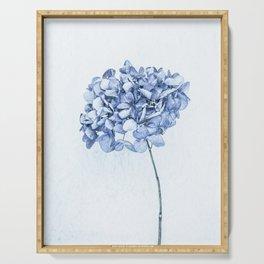 Hydrangea Blue 2 Serving Tray
