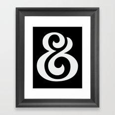Ampersand II White on Black Framed Art Print