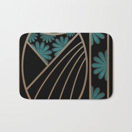 ART DECO FLOWERS (abstract) Bath Mat
