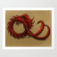 Bio-Elephant Skull Art Print