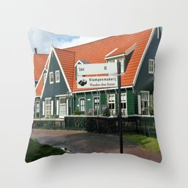 Klompenmakerj Throw Pillow