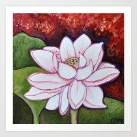 Sumptuous Lotus Art Print