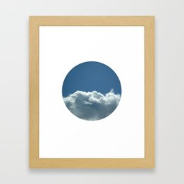 Blue+White Framed Art Print