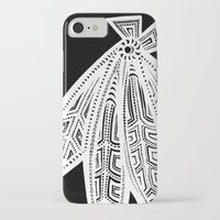 blackhawks iPhone & iPod Cases featuring Inverted Chicago Blackhawks by Alexandra Nee