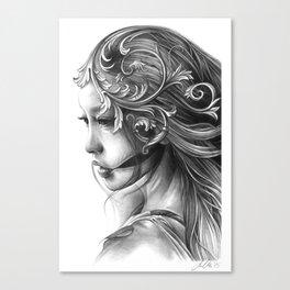 Asian Filigree Canvas Print