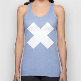 X WHITE Unisex Tank Top