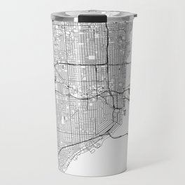 Miami White Map Travel Mug