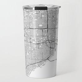 Miami White Map Travel Mug