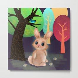 Bunny And Birdie Metal Print