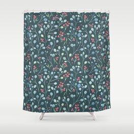 Eucalyptus and flowers Shower Curtain