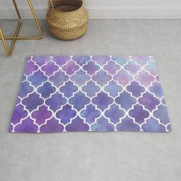 Purples & Pinks Watercolor Moroccan Pattern Rug