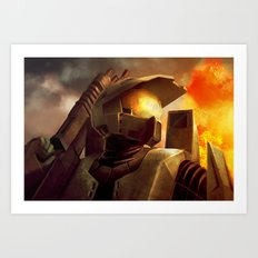 Epic Halo Spartan Art Print