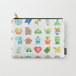 CUTE GREEN / ECO / RECYCLE PATTERN Carry-All Pouch