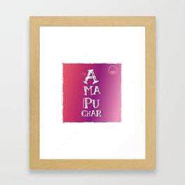 """Amapuchar"" Framed Art Print"