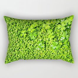 Lush Green Vegetation Growth of Clover Rectangular Pillow
