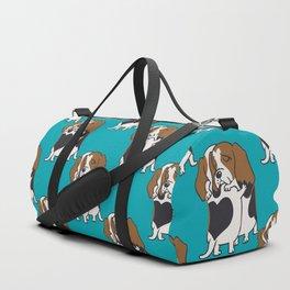 Basset Hound Hugs Duffle Bag