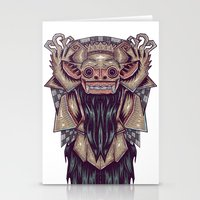 indonesia Stationery Cards featuring Barong Indonesia by Ahmad Mujib