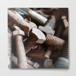 Bolt on the wall Metal Print