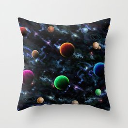 Space Moons Throw Pillow