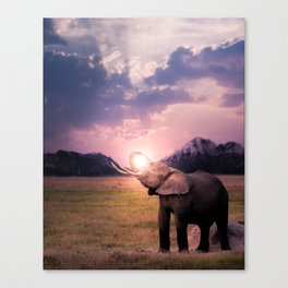 Elephantsun Canvas Print