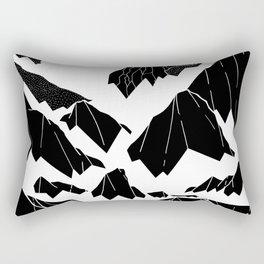 The snow bottom mountains Rectangular Pillow