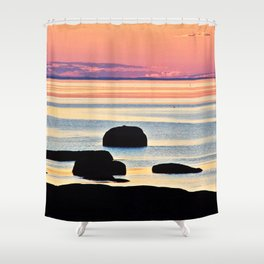 Painted Seas at Dusk Shower Curtain
