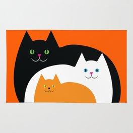 Halloween Cat Family Rug