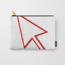 Cursor Arrow Mouse Red Line Carry-All Pouch